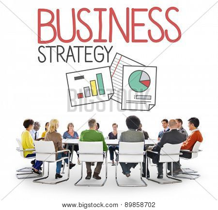 Business Strategy Tactics Goal Success Critical Data Analysis Concept