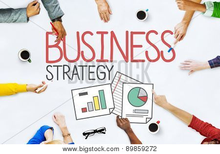 Business Strategy Tactics Smart Methods Solutions Planning Concept