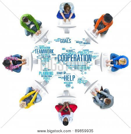 Coorperation Business Coworker Planning Teamwork Concept