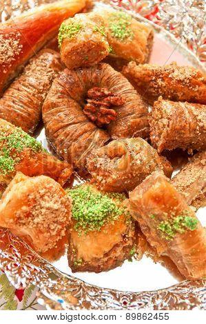 Turkish sweet delight dessert baklava
