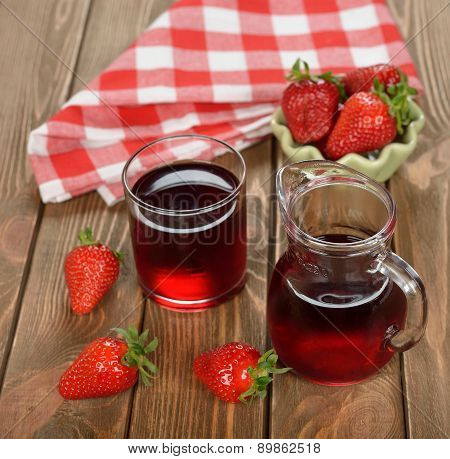 Fresh Strawberries Drink