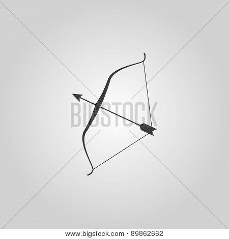The Bow Icon. Bow Symbol. Flat
