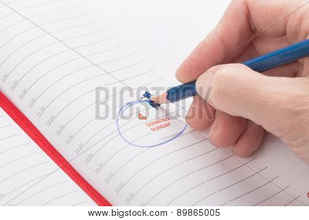 Female Hand Breaks A Lead Pencil