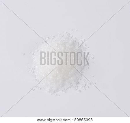 overhead view of coarse grained salt