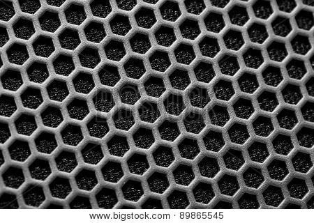 metal mesh of speaker grill texture