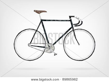 Low Poly Fixie Bicycle