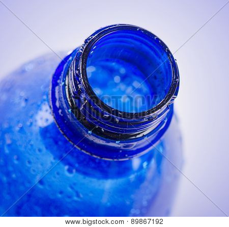 Plastic Blue Bottle Of Drinking Water