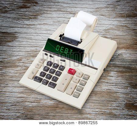 Old Calculator - Debt