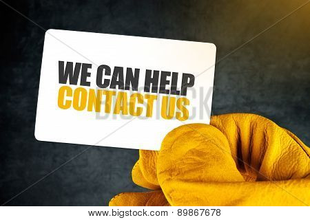 We Can Help On Business Card