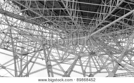 Steel lattice work on radio telescope