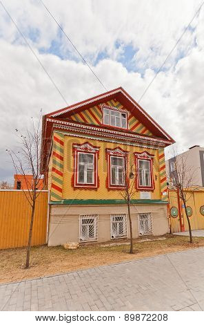 Merchants Isanbaev House (xix C.) In Kazan City, Russia