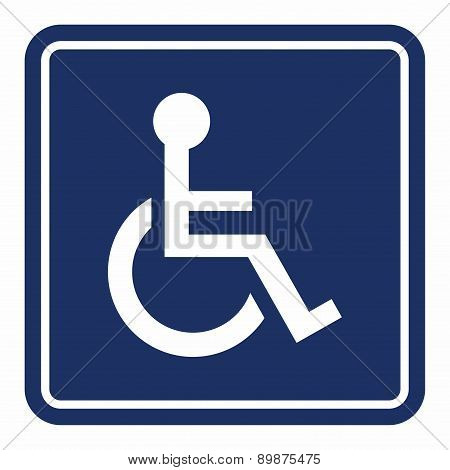 Handicap, wheelchair person sign