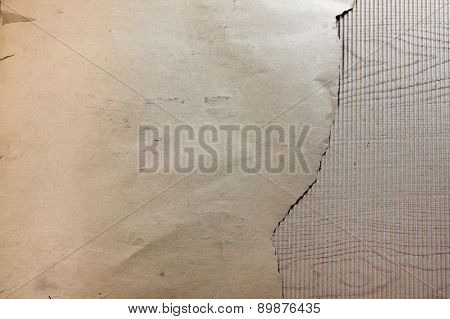 Old Paper On Corrugated Fiberboard Single Face