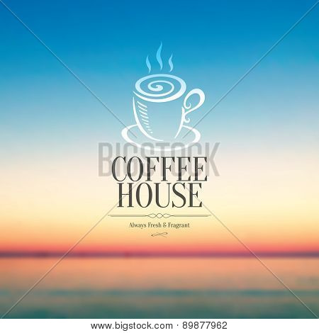 Menu for restaurant, cafe, bar or coffee house. On amazing blurred background
