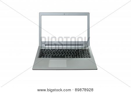 Isolated Labtop On White Background