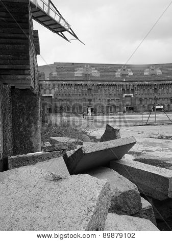 rubble  inside the court yard of the former Nazi Party congress