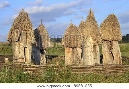 Ancient Wooden Beehives