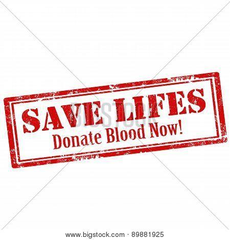 Save Life!-stamp