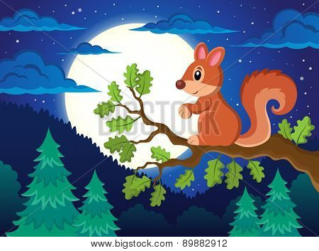 Image with squirrel theme 4 - eps10 vector illustration.