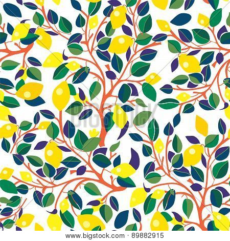 Lemons Seamless Pattern - Design With Leaves