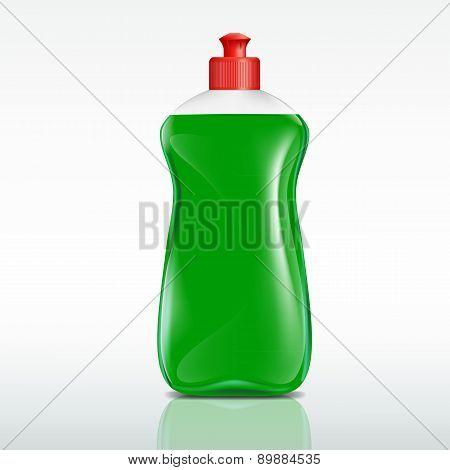 Plastic Bottle Of Detergent