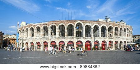 People At The Arena Of Verona
