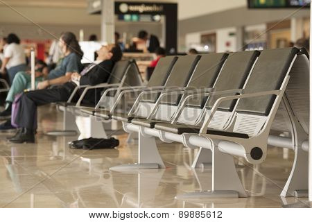 Seats in an airport