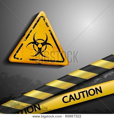 Biohazard Symbol And Warning Tape