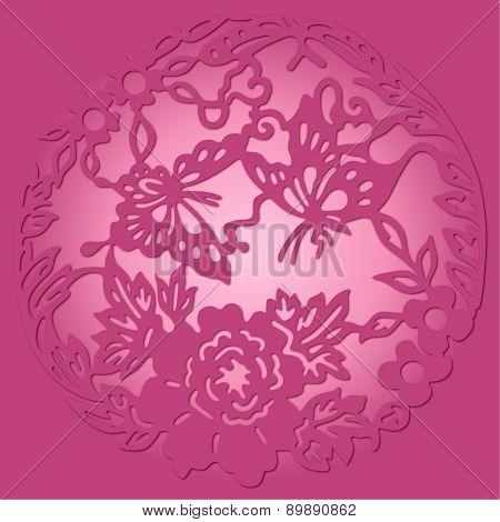 Round Pink Ornament