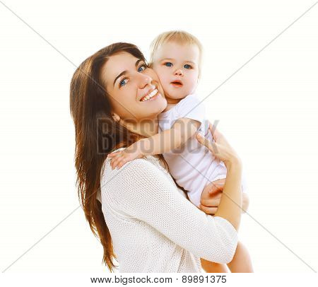 Portrait Of Happy Mother And Child Together Having Fun
