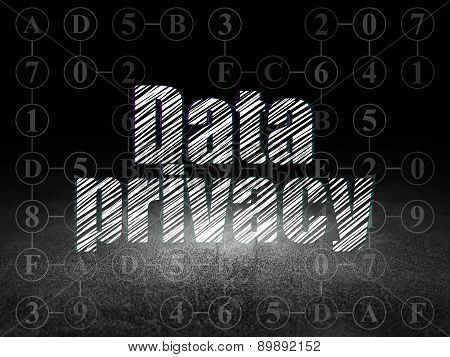 Security concept: Data Privacy in grunge dark room