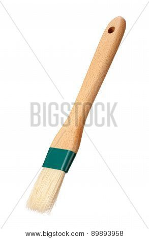 Basting Brush With A Wood Handle Isolated