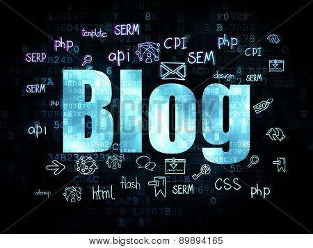 Web design concept: Blog on Digital background