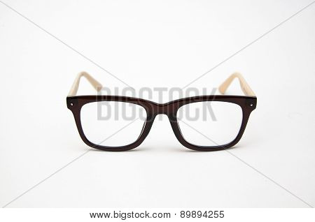 Nerd glasses on isolated white background,