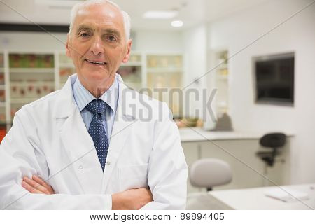 Science professor smiling at camera at the university