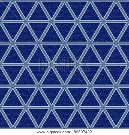 Blue Jeans Background With Rhombs