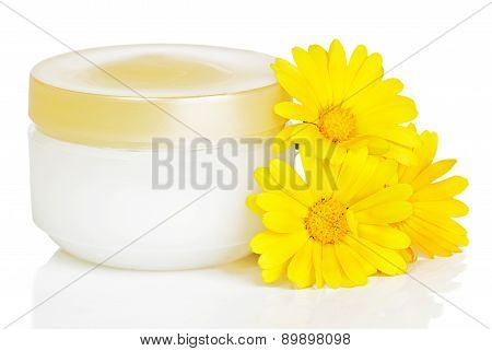 Jar Of Cream And Calendula