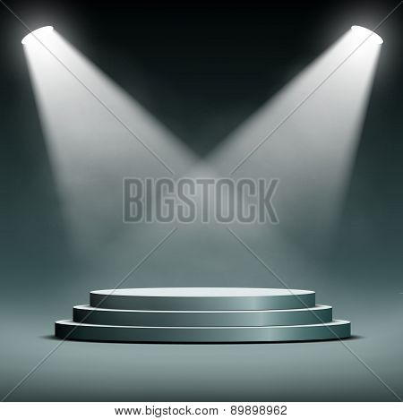 Podium For The Presentation