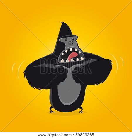 funny cartoon gorilla