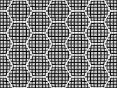 stock photo of hexagon pattern  - Design seamless monochrome checked hexagon pattern - JPG