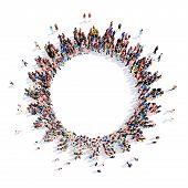 foto of gear wheels  - Large group of people in the form of gears - JPG