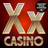 stock photo of letter x  - Vector set of elite rich gold alphabet - JPG