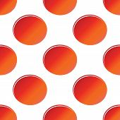 pic of oval  - Vector red oval repeated on white background - JPG