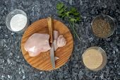 Постер, плакат: Cooking Chicken