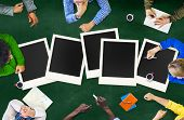 image of polaroid  - Polaroid Paper Instant Camera Photography Media Concept - JPG