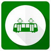 image of tram  - tram flat icon public transport sign  - JPG