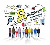 stock photo of recruiting  - Ethnicity People Standing Recruitment Professional Concept - JPG