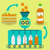 picture of orange-juice  - Orange juice series production - JPG