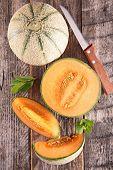 foto of melon  - fresh melon - JPG