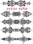 stock photo of celtic  - Set of elements of design in Celtic style  - JPG
